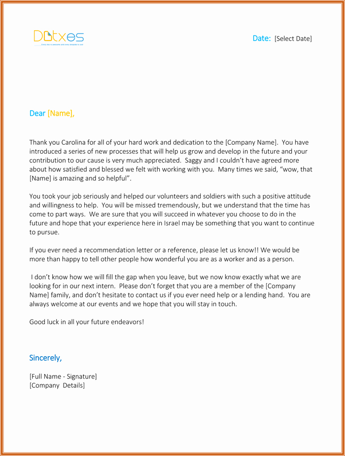 Internship Letter From Employer New Internship Thank You Letter 5 Letters You Should Consider Sending