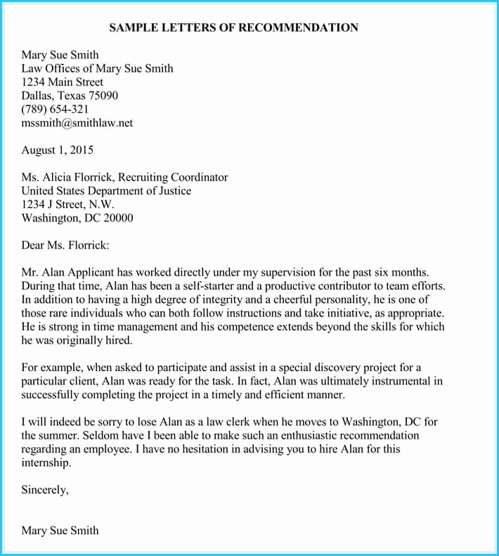 Internship Letter From Employer Unique Internship Reference Re Mendation Letters 8 Best Samples