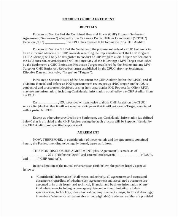 Invention Non Disclosure Agreement Pdf Awesome 23 Non Disclosure Agreement Templates Doc Pdf