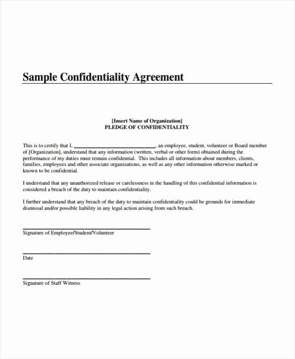 Invention Non Disclosure Agreement Pdf Elegant 3 Teacher Confidentiality Agreement Templates Pdf Word