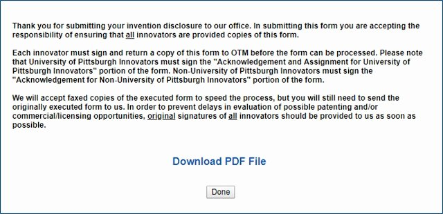 Invention Non Disclosure Agreement Pdf Lovely Invention Disclosure Submittal Instructions University Of Pittsburgh Innovation Institute