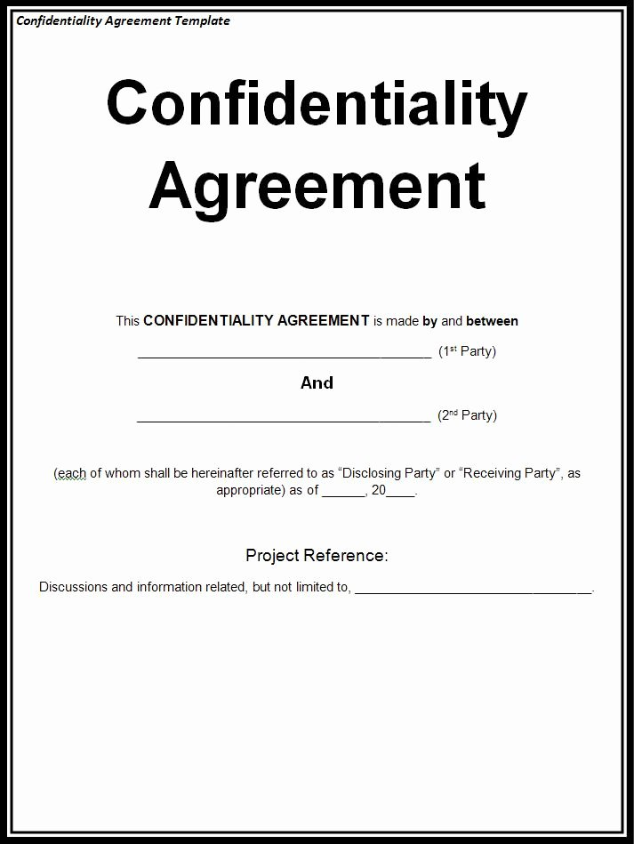 Invention Non Disclosure Agreement Pdf Luxury why Confidentiality Part 3