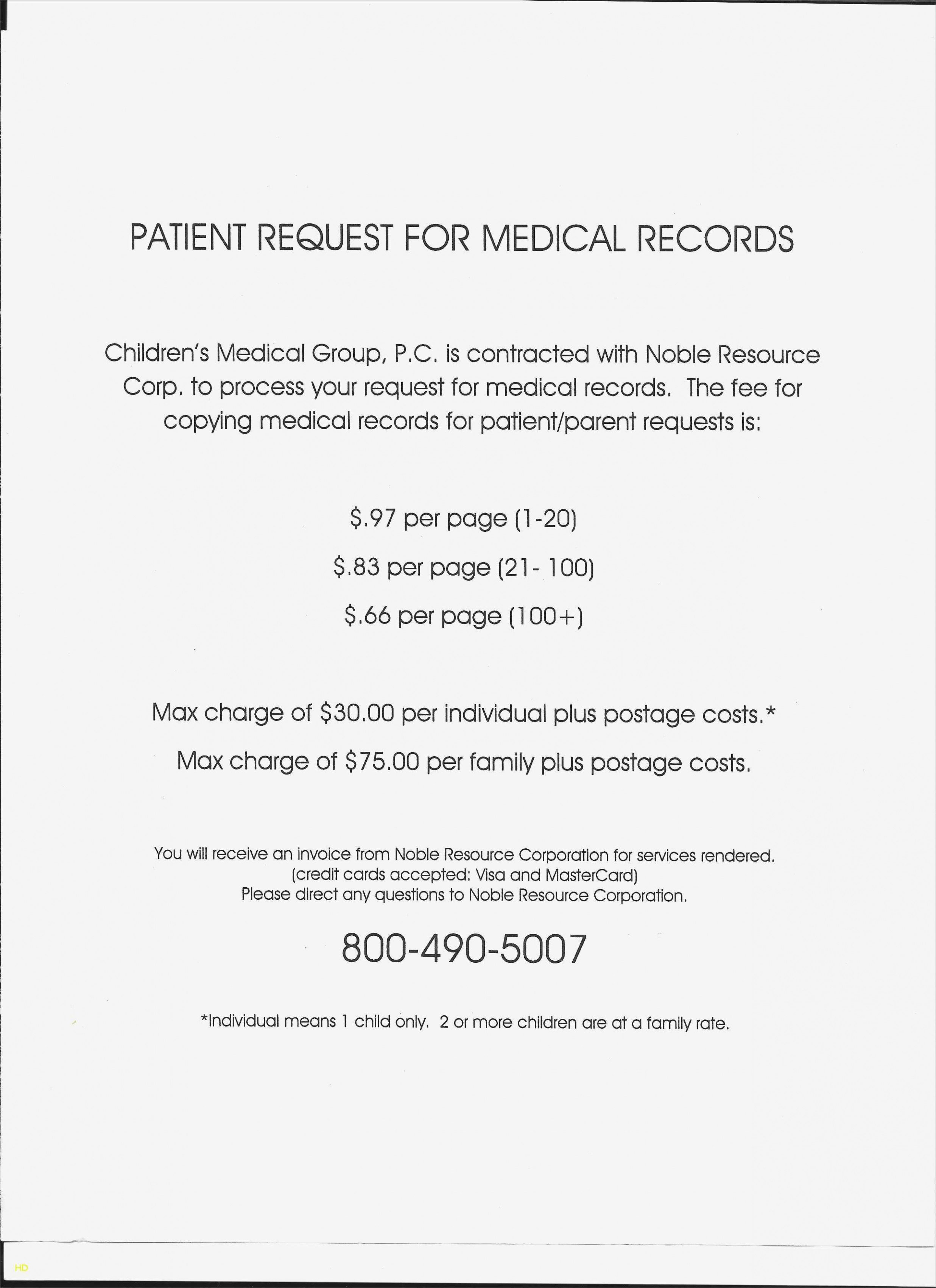 Invoice for Medical Records Template Beautiful 10 Medical Records Request form Template