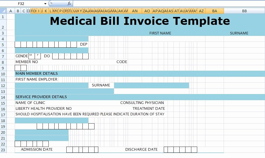 Invoice for Medical Records Template Best Of Medical Bill Invoice Template Xls Free Excel Spreadsheets and Templates