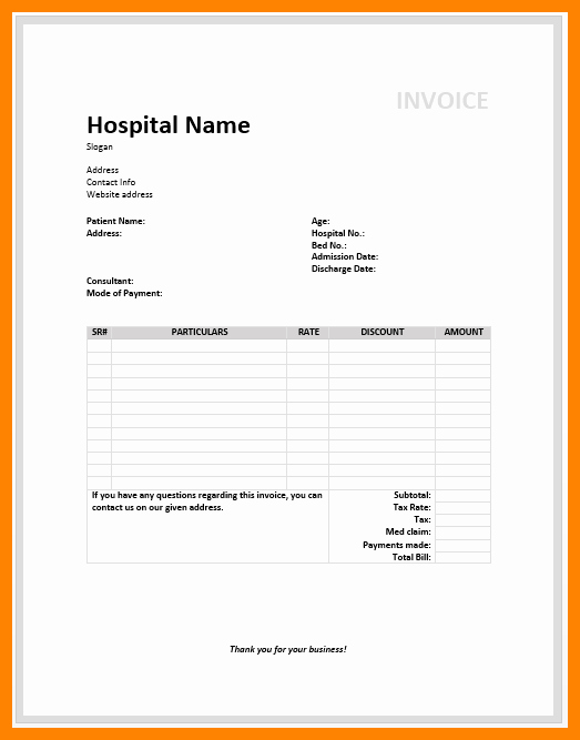 Invoice for Medical Records Template Fresh 4 Medical Records Invoice