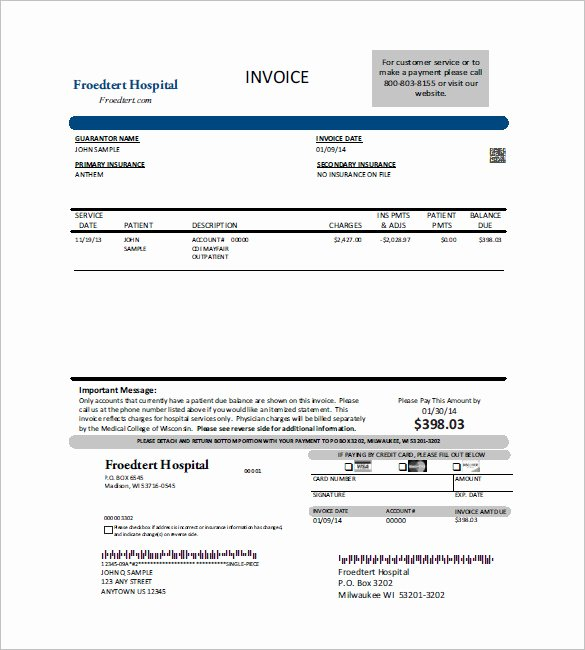 Invoice for Medical Records Template New Medical Invoice Template format to Download for Free