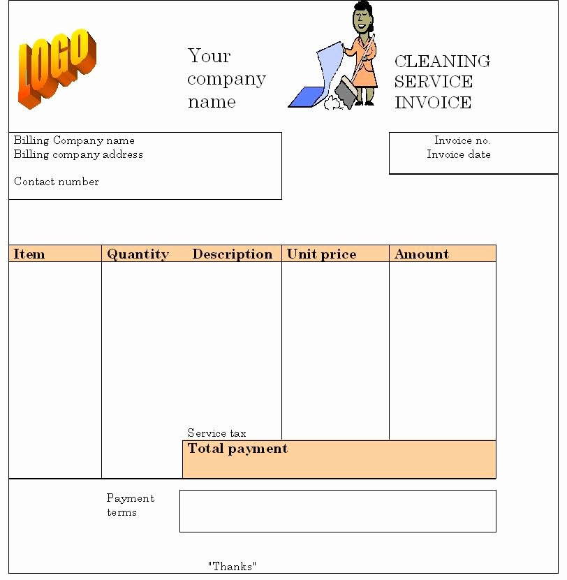 Invoice Template for Cleaning Services Awesome House Cleaning Free House Cleaning Invoice forms