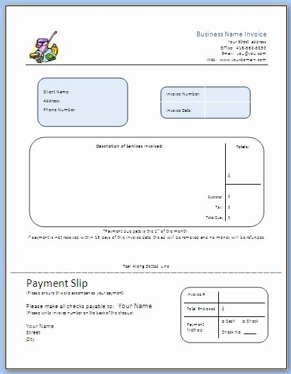 Invoice Template for Cleaning Services New Step 7 Business forms Start A Mercial Cleaning Business
