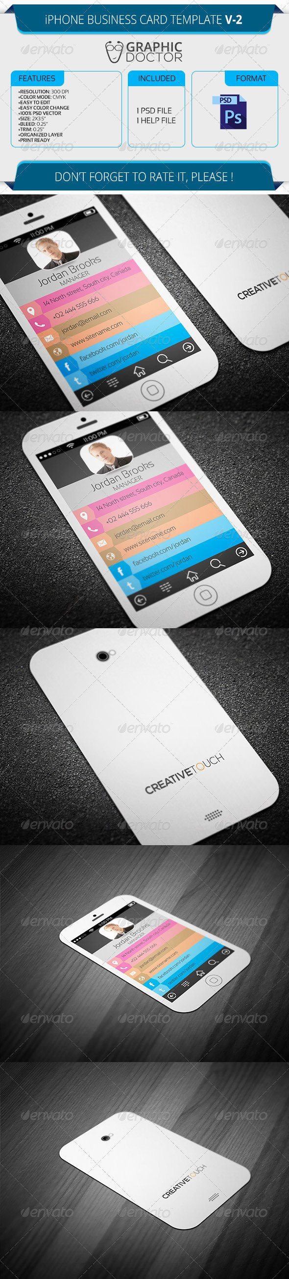 iPhone Business Card Template Awesome iPhone Business Card Template V 2