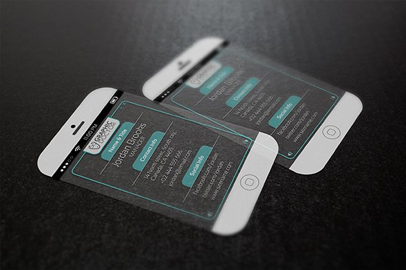 iPhone Business Card Template Beautiful iPhone 6 Business Card Template Free Download