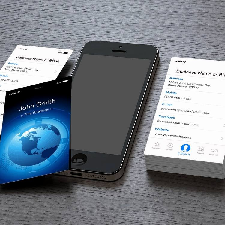 iPhone Business Card Template Luxury Information Technology Cool iPhone Ios Design Business