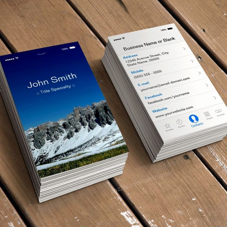 iPhone Business Card Template Luxury iPhone Ios Customizable Flat Ui Style Business Card