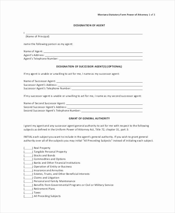 Irrevocable Power Of attorney form Fresh 10 Power Of attorney forms