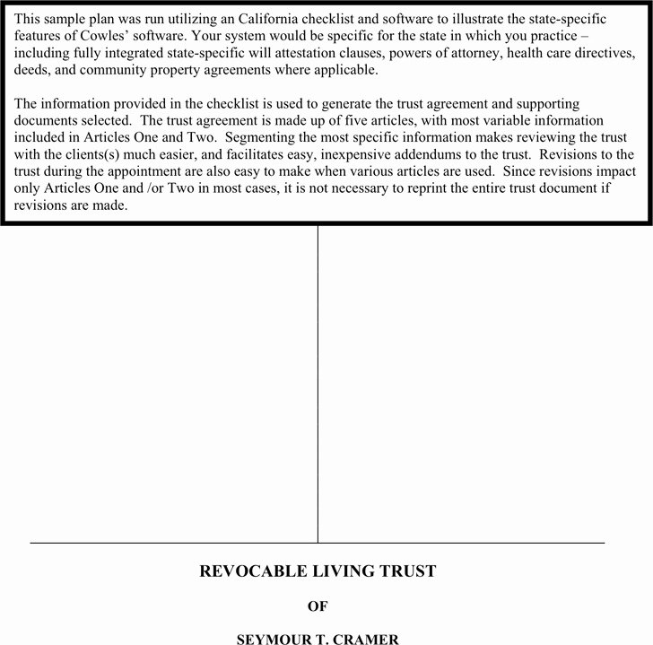 Irrevocable Power Of attorney forms Elegant 4 Living Trust form Free Download