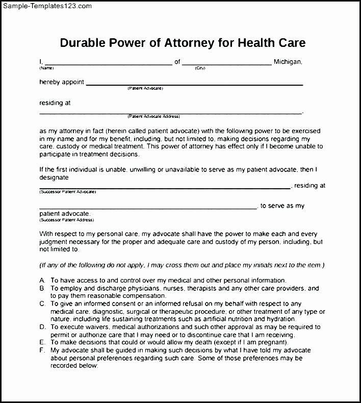 Irrevocable Power Of attorney forms Lovely Irrevocable Specific Power attorney form