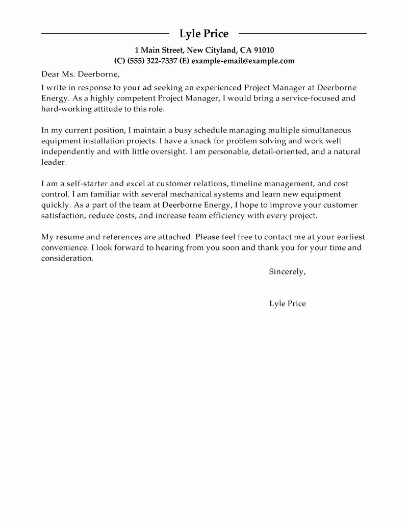 It Manager Cover Letter Awesome Best Manager Cover Letter Examples