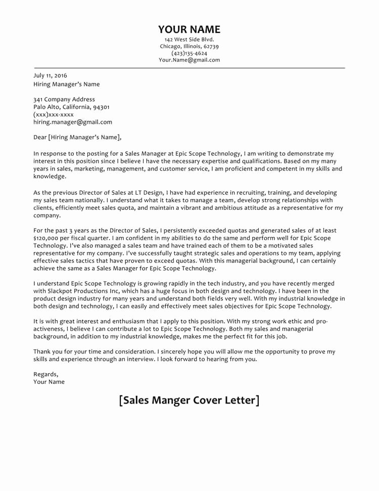 It Manager Cover Letter New 66 Cover Letter Samples and Correct format to Write It