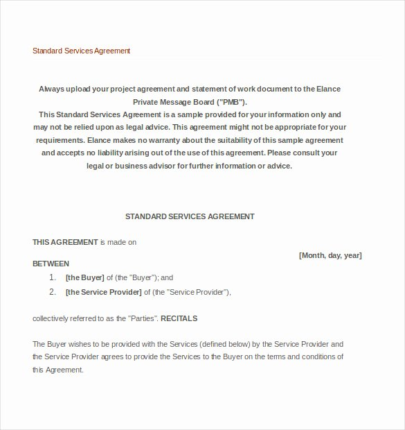 It Service Contract Template Lovely 36 Service Agreement Templates Word Pdf