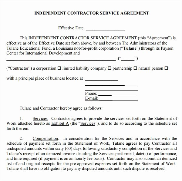 It Service Contract Templates Inspirational Free 18 Service Agreement Templates In Google Docs
