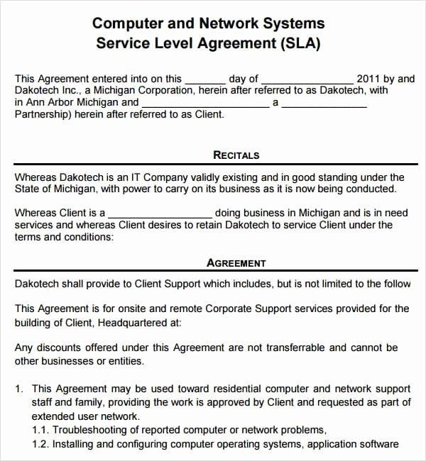 It Support Contract Template Awesome Free Contract Templates Word Pdf Agreements