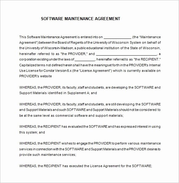 It Support Contract Template Beautiful 8 It Support Contract Templates Word Google Docs Pdf Apple Pages