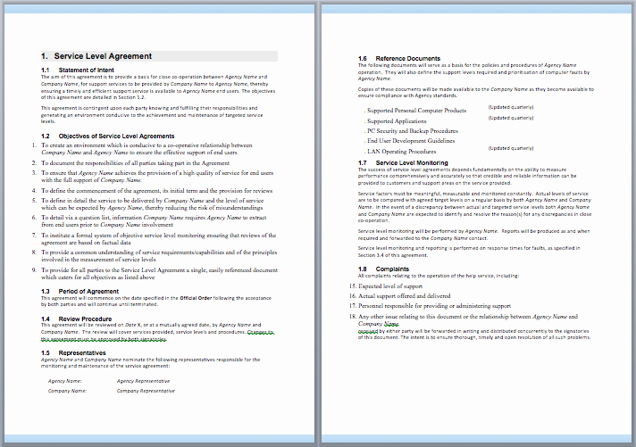 It Support Contract Template New Information Technology Support Services Contract Template Free Template Downloads