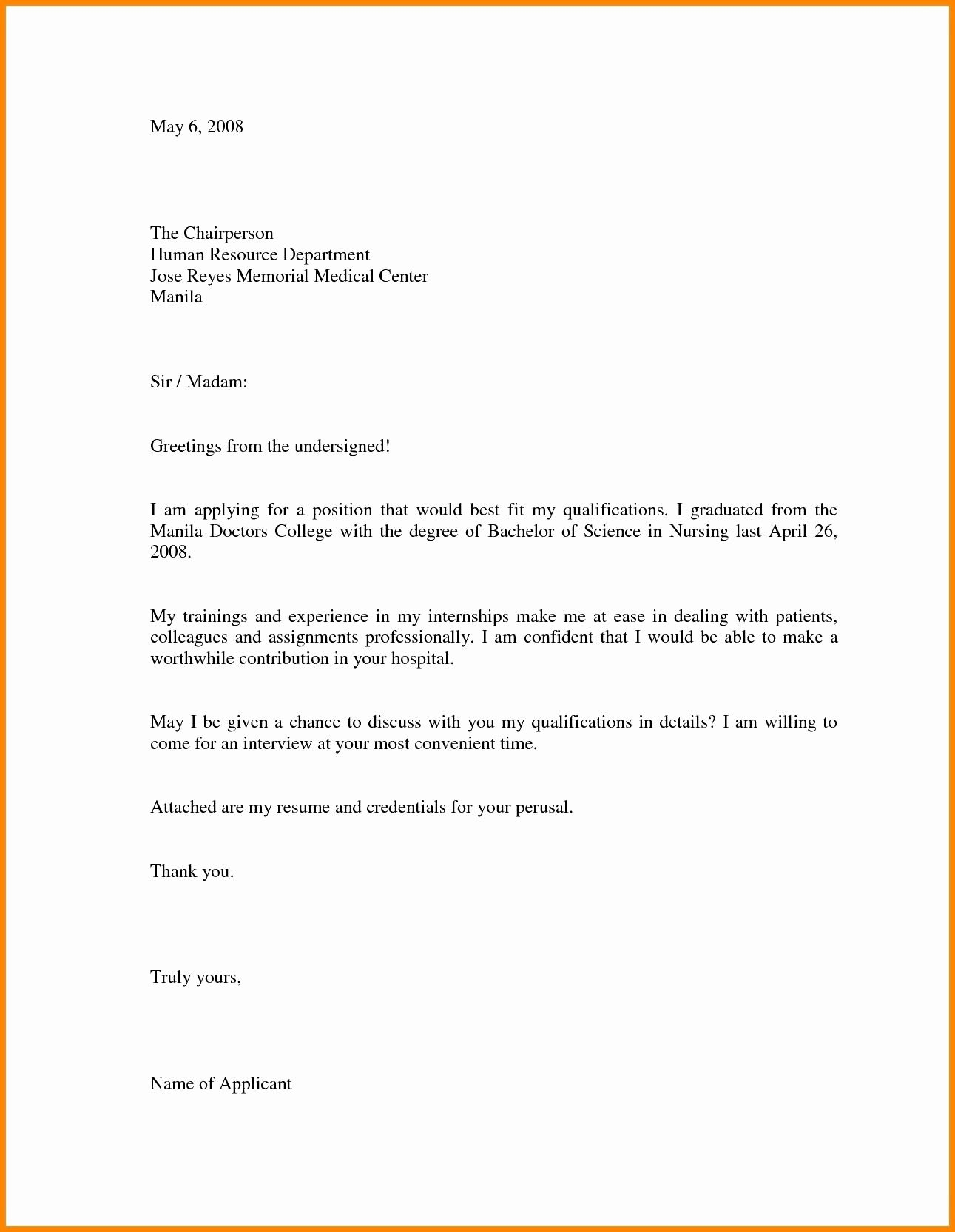 Job Application Template Doc Best Of Cover Letter Sample for Job Application Doc Refrence Letter Opinion