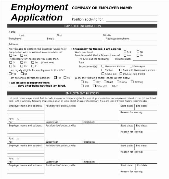 Job Application Template Doc New Job Application Template 19 Examples In Pdf Word