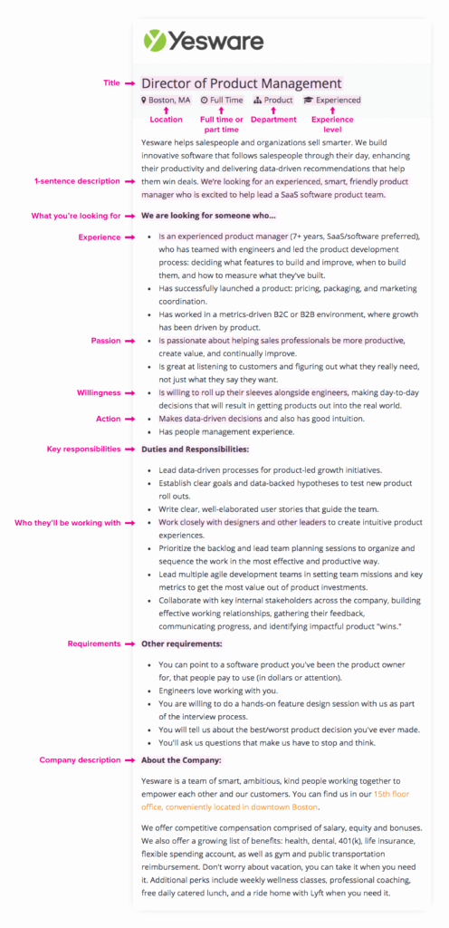 Job Description Template Google Docs Awesome attract Qualified Candidates with This Job Description Template Yesware Blog