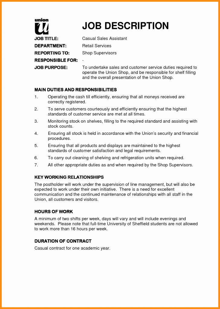 Job Description Template Google Docs Beautiful Job Description Template Google Docs