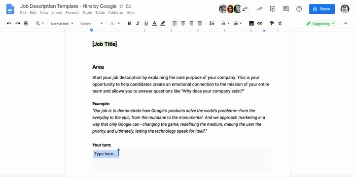 Job Description Template Google Docs Beautiful the Anatomy Of A Successful Job Description Free Template