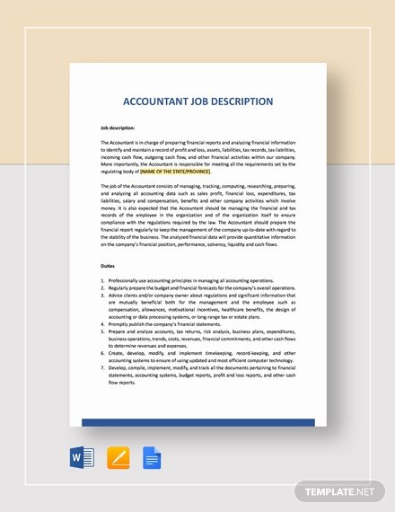 Job Description Template Google Docs Fresh Download 84 Job Description Templates Word Google Docs Apple Pages