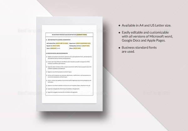 Job Description Template Google Docs Luxury Sample Job Description Template 32 Free Documents Download In Word Pdf