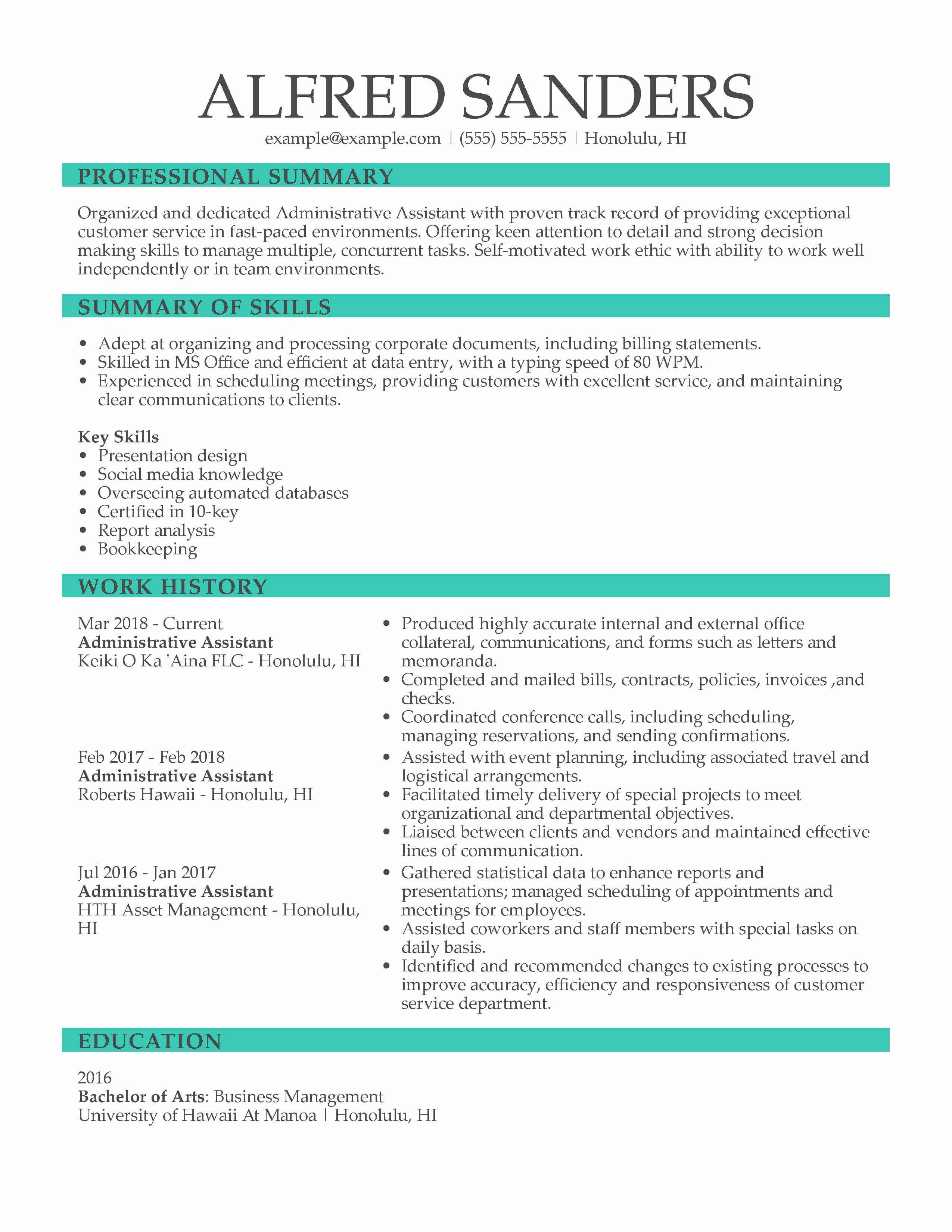 Job Description Template Google Docs New Executive assistant Resume Examples Created by Pros