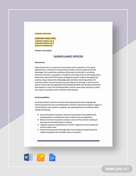 Job Description Template Google Docs Unique 84 Job Description Templates In Google Docs [download now]