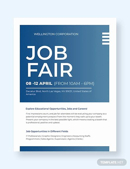 Job Fair Flyer Template Awesome 19 Recruitment Flyers Psd Ai Word