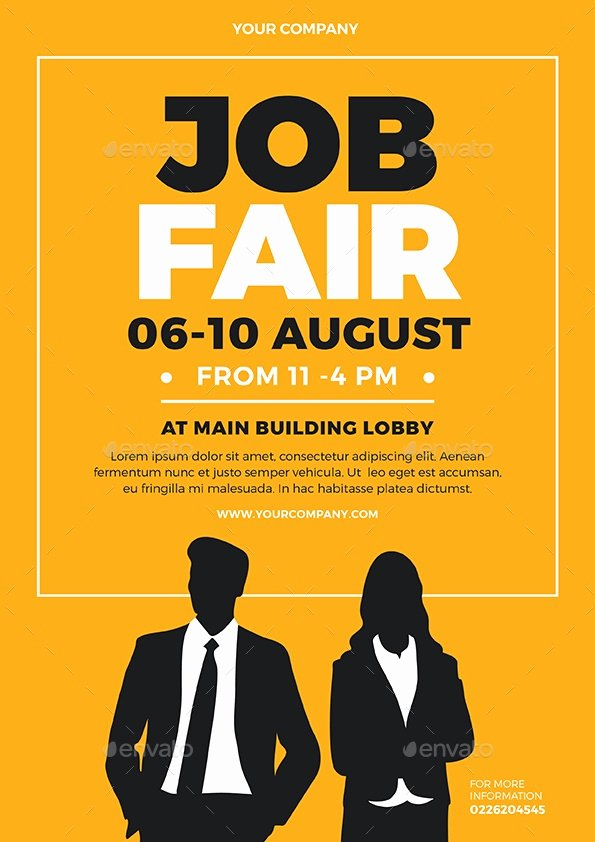 Job Fair Flyer Template Awesome 28 Beautiful Job Fair Flyer Templates Psd Vector Eps Jpg