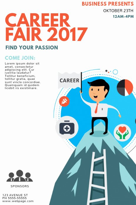 Job Fair Flyer Template Beautiful Career Fair Flyer Template