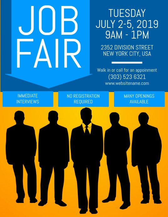 Job Fair Flyer Template Best Of Copy Of Job Fair Flyer