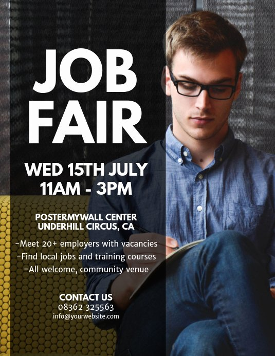 Job Fair Flyer Template Elegant Copy Of Job Fair Flyer Template