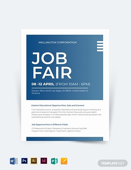 Job Fair Flyer Template Free Best Of 10 now Hiring Flyers In Illustrator Indesign Word Pages Shop Publisher