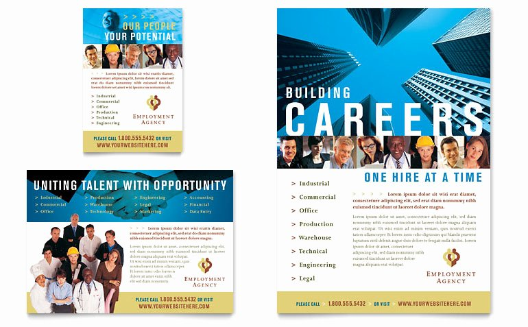 Job Fair Flyer Template Free Inspirational Employment Agency & Jobs Fair Flyer & Ad Template Word & Publisher