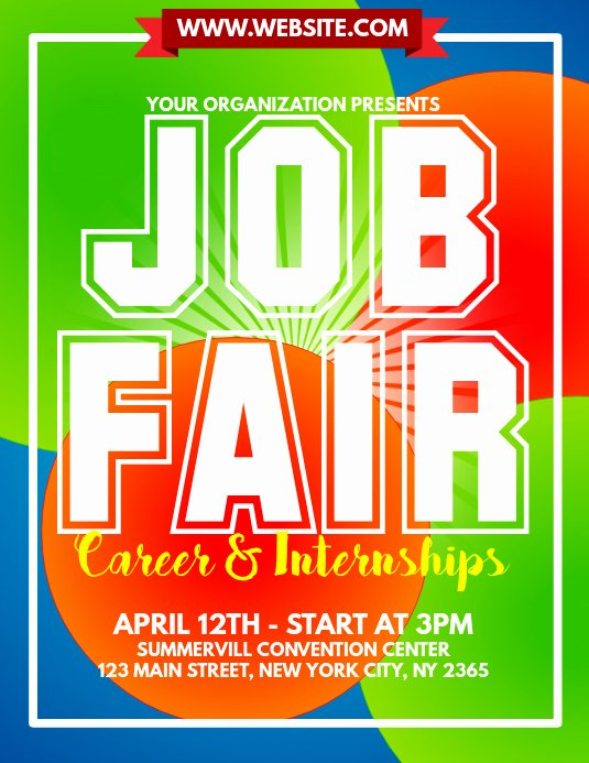 Job Fair Flyer Template Free Lovely Job Fair Flyer Template