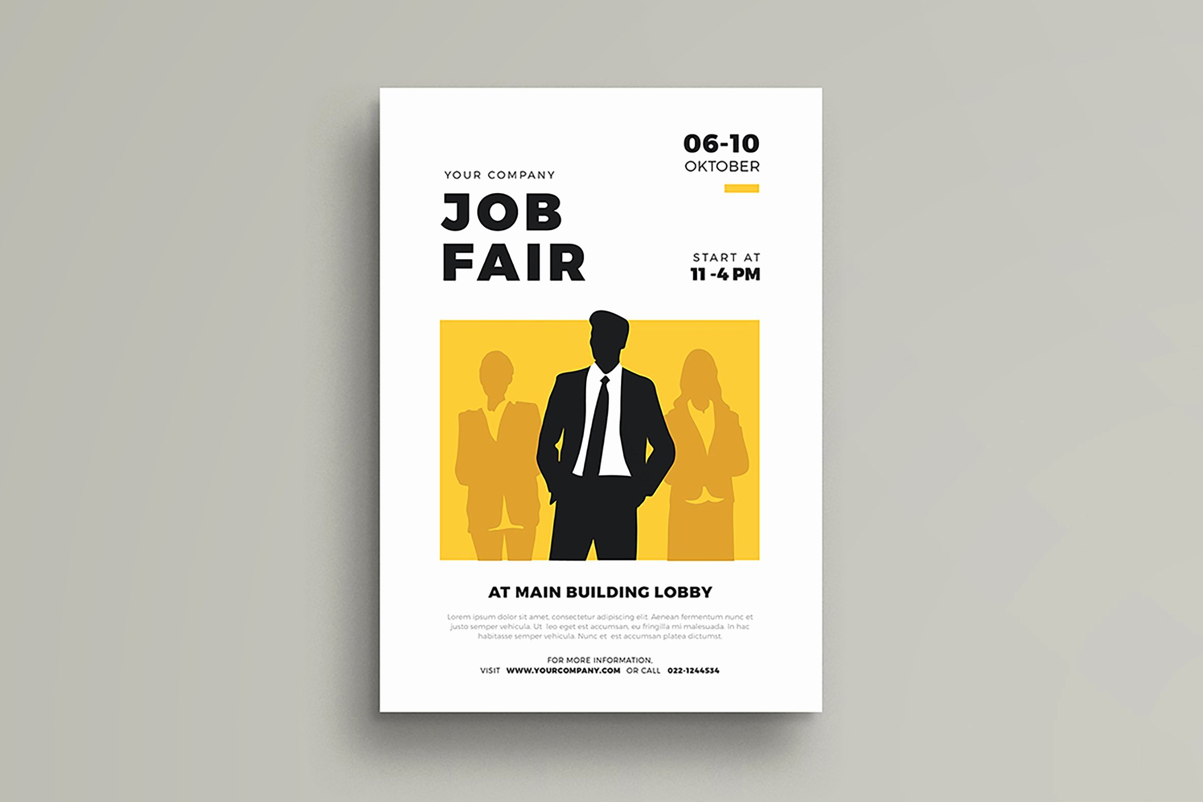 Job Fair Flyer Template Free Luxury Job Fair Flyer Template Flyer Templates Creative Market