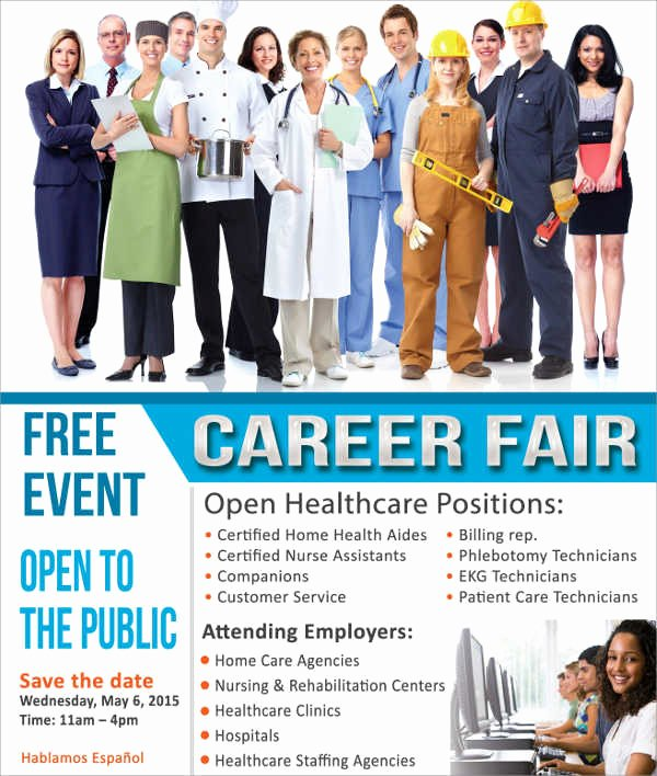 Job Fair Flyer Template Free Unique 12 Job Fair Flyer Free Sample Example format Download