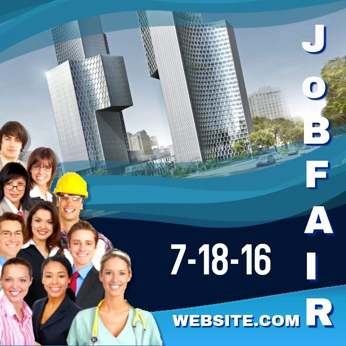 Job Fair Flyer Template Free Unique Job Fair Intregram Template