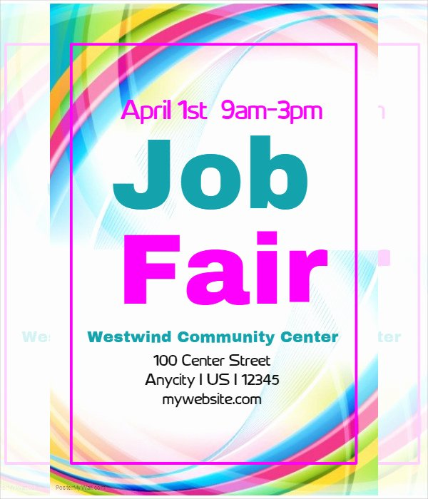 Job Fair Flyer Template Fresh 62 Example Of Flyer Templates Psd Ai Vector Eps