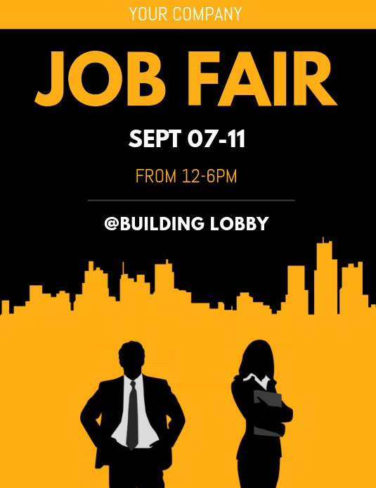 Job Fair Flyer Template New Job Fair Flyer Template