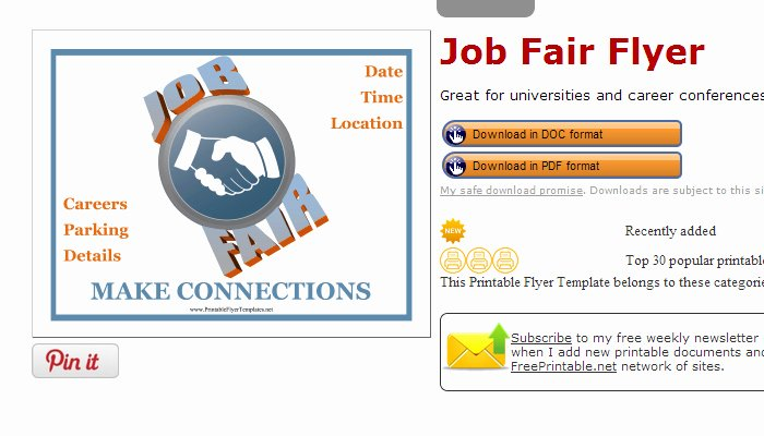 Job Fair Flyer Template Unique 5 Career Fair Flyer Templates