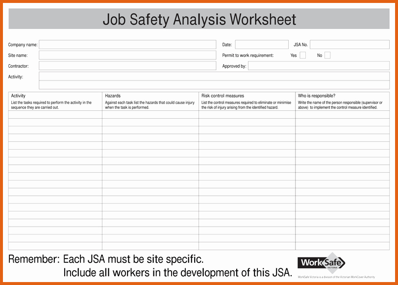 Job Hazard Analysis Examples Construction Beautiful Job Safety Analysis Examples
